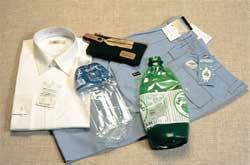 produk yang dibuat dari hasil proses daur ulang botol-botol plastik (PET botol)