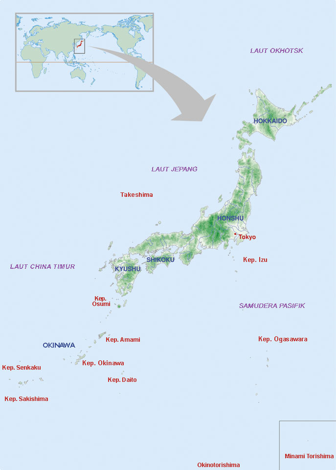 Peta negara Jepang